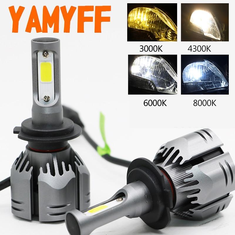 YAMYFF Auto Scheinwerfer H4 LED H7 LED H11 Led-lampen 3000 K 6000 K 8000 K 9000LM H1 H3 9005 9006 H27 4300 K Birne Auto Nebel Licht Lampe 12 V