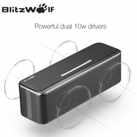 BlitzWolf Mini Wireless Bluetooth Speaker Portable Stereo Bluetooth Speaker With Microphone 20W Mobile Phone Speaker For iPhone