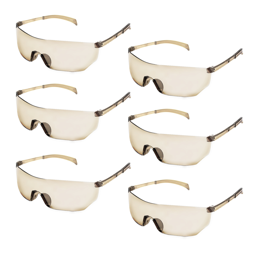 6 PCS Kids Outdoor Shooting Game Protective Goggles Safety Glasses Eyewear Eye Protection For Nerf N-Strike Elite