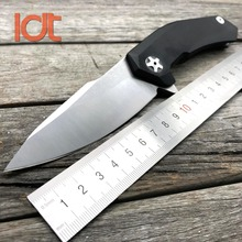 LDT ZT 0095 BW Folding Knife 9CR18MOV Blade G10 Handle Bearing Tactical Knife Camping Hunting EDC Tools Outdoor Survival Knives