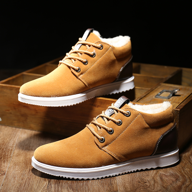 2018 Men's Shoes Winter Warm Men Shoes Casual Male Loafers Casual Footwear Winter Autumn Men's Sneakers Breathable Shoes