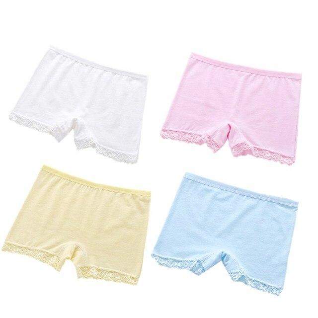 107b1347047f 100% Cotton Kids Panties Underwear For Children Baby Lace Under Briefs  Girls Shorts Knickers Underpants
