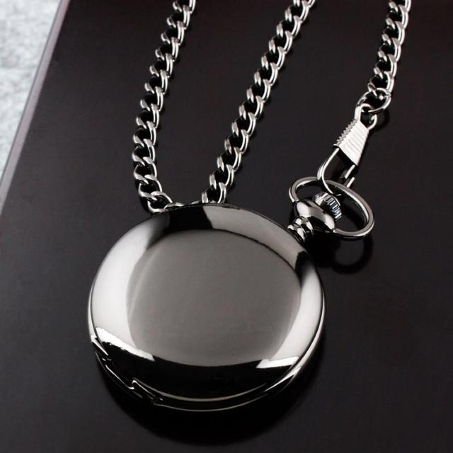 Millky Stars  Smooth Stainless Steel Case White Dial Arabic Numbers Modern Pocket Watch 17mar23
