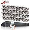 Latest ANRAN 32CH AHD Camera System 1080N HDMI DVR Kit 32pcs 720P 1800TVL IR Outdoor Home