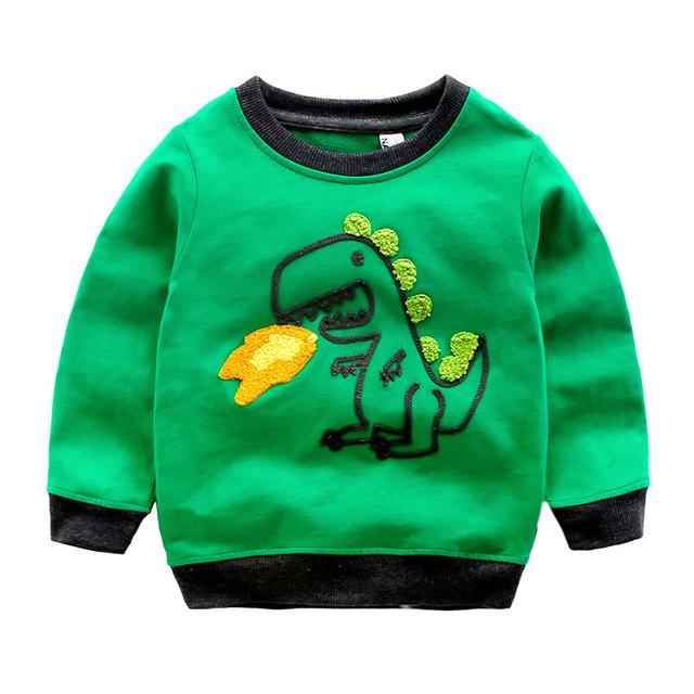 Meninos t-shirt do bebê camisola de algodão dos desenhos animados manga comprida outwear primavera 2017