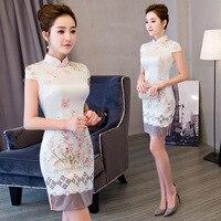 Traditional Chinese Style Women Mini Cheongsam Qipao Dress Vestido Clothing for Evening Dress China Qipao