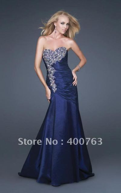 Euro Type Taffeta Mermaid Gown Lace Up Designer Prom Dress Patterns