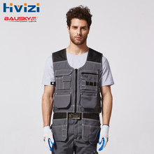 Mens Top Vest Working Vest Utility&Safety Tool Vest Workwear Navy And Grey Free Shipping B208 цена