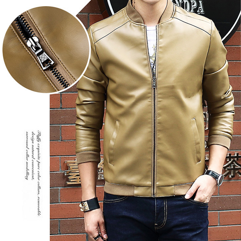 Casual Tops Long Sleeves 1pcs Baseball Collar Men's Leather Jacket Good Companions For Children As Well As Adults