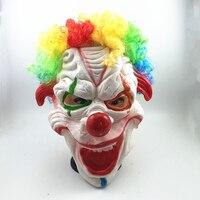 1 шт. Оптовая Латекс страшный клоун маска Хэллоуин маска для antifaz партии Тушь для ресниц карнавал Косплэй костюм Театр игрушка для фестиваля