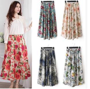 Hot Sale Women Long Skirt Summer Beach Bohemia Long Skirt