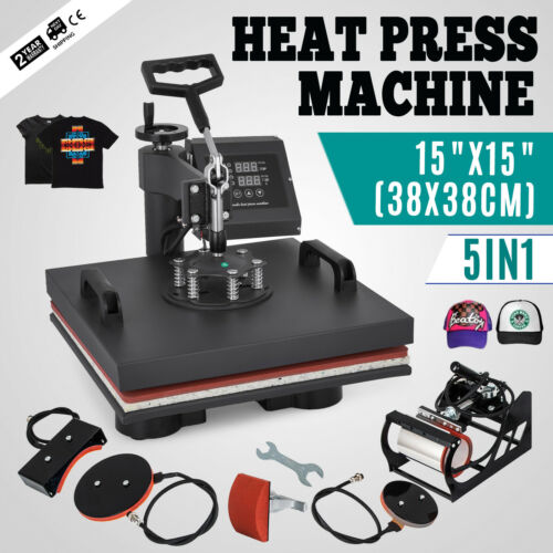 5 in 1 38cmx38cm Multi function Hot Stamping Machine Five in one Heat Press Machine|Personal Care Appliance Parts| |  - title=