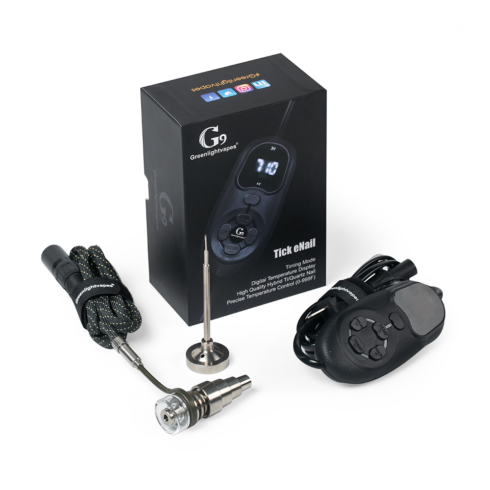 G9 Cocher Enail Henail Kit Avec Quartz Titane Nail Portable E Nail Dab Cire Pour 10mm 16mm 20mm Plate-Forme Pétrolière Pipe En Verre Bong Vaporisateur