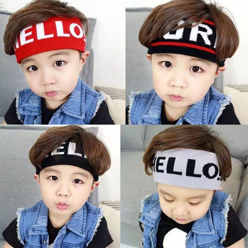 20 Kinds Elastic Hair Band Letter Headbands For Girls And Boys Sports Hairstyle Wash Face Kids Hair Accessories