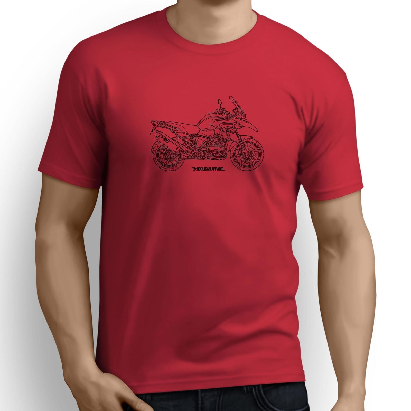US $12.34 5% OFF|Print Short Sleeve Tees Men Classic German Motorcycle Fans R1200Gs Adventure 2013 Inspired Motorcycle Art Design Your Own Shirt in