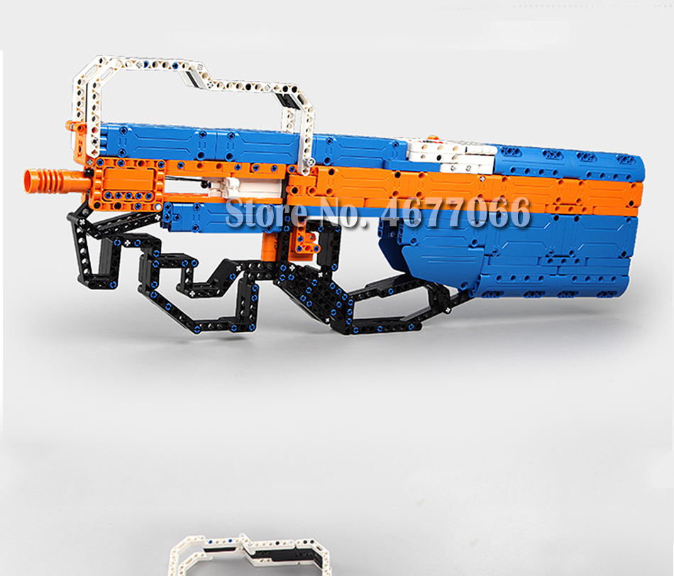 Legoed gun model building blocks p90 toy gun toy brick ak47 toy gun weapon legoed technic bricks lepin gun toys for boy 153