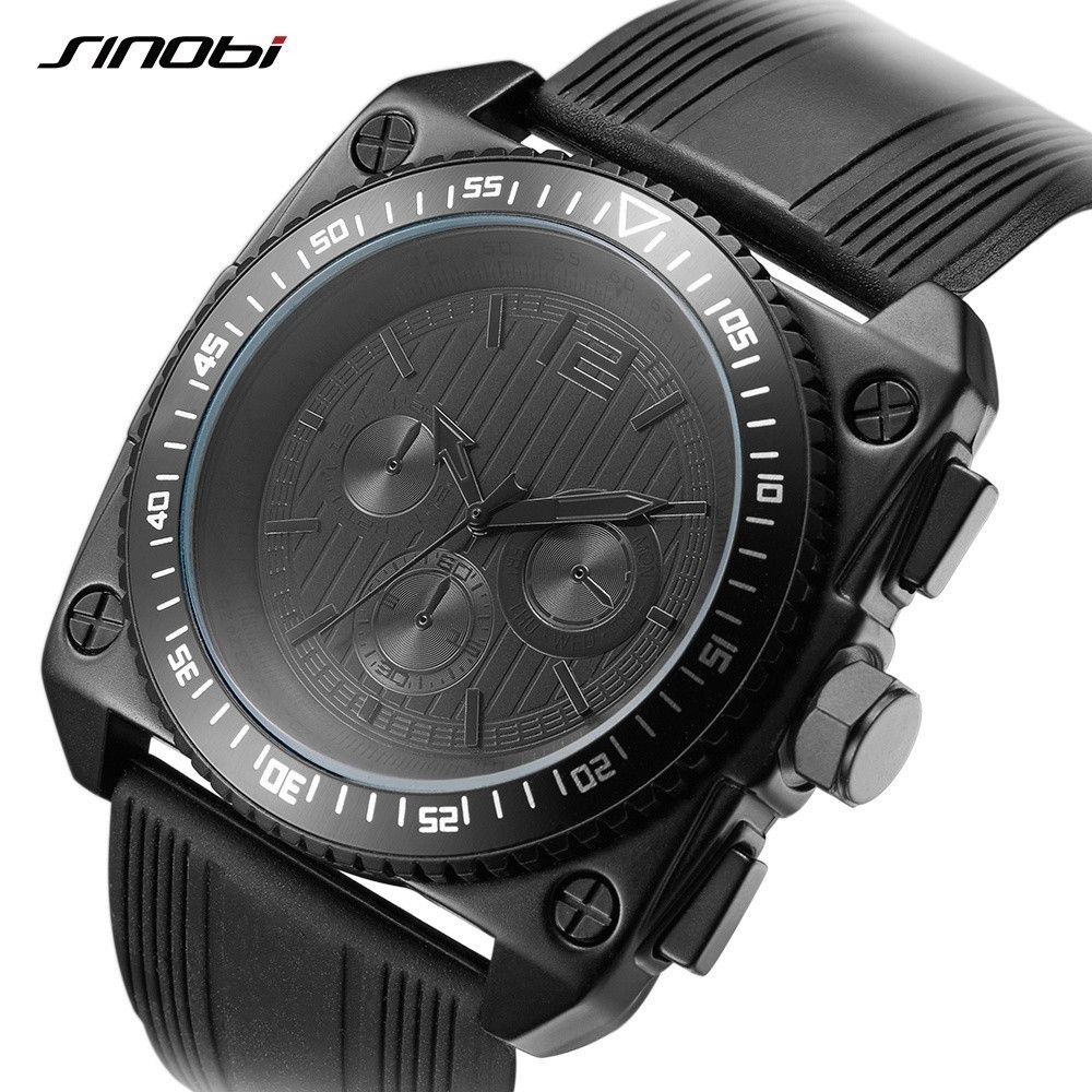 Sinobi Top Brand Luxury Watches Men Watch Casual Quartz Watches Waterproof Male Clock Fashion Relogio Masculino Wristwatches