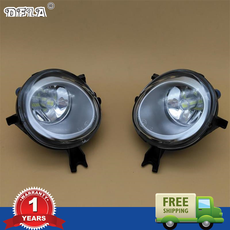 DFLA LED Light For VW Touareg 2003 2004 2005 2006 2007 2008 2009 2010 Car Styling LED Front Bumper Fog Lamp Fog Light With Bulb for vw golf 5 2004 2005 2006 2007 2008 2009 high quality 9 led left side front fog lamp fog light