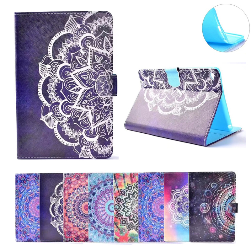 for iPad Air 2 Case Brilliant Painting Smart PU Leather Sleeve for ipad 6 TPU Folio Stand Cover Case Card Slots