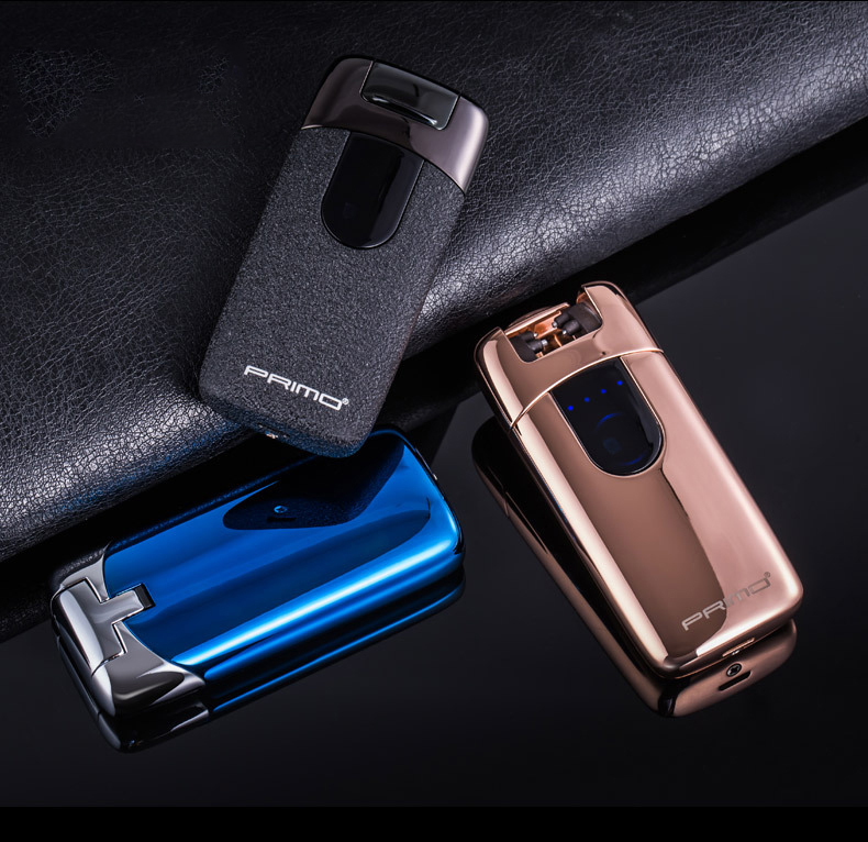 Primo Plasma Lighter USB Lighter Touch Senstive Electronic Cigarette Double Arce Smoking Accessories