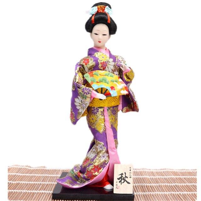 Baru Kain Kimono Jepang Jepang Geisha Boneka Pernikahan Dekorasi Aksesoris  Rumah Furniture Kecantikan Antik Feng Shui d2b1b0f0d8