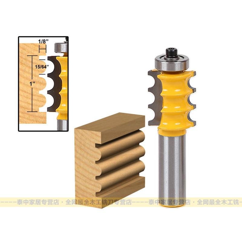 Punta per router Arden a doppia perla per legno - 1/2 * 1/4 - Gambo - Macchine utensili e accessori - Fotografia 2