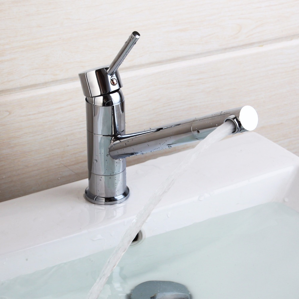 single lever kitchen sink faucet basin mixer tap swivel chrome new design mak126 - Kitchen Basin Sinks