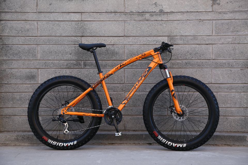 Fat Bike Speed Change Cross-country Mountain Bike, 4.0 Super Wide Tires, Snow Sand Bicycle, Male And Female Student Bicycle