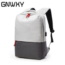 GNWXY New Design External USB Charge port Laptop Backpack 15.6 Inch Men Travel Backpack College Student School Bag Waterproof цены