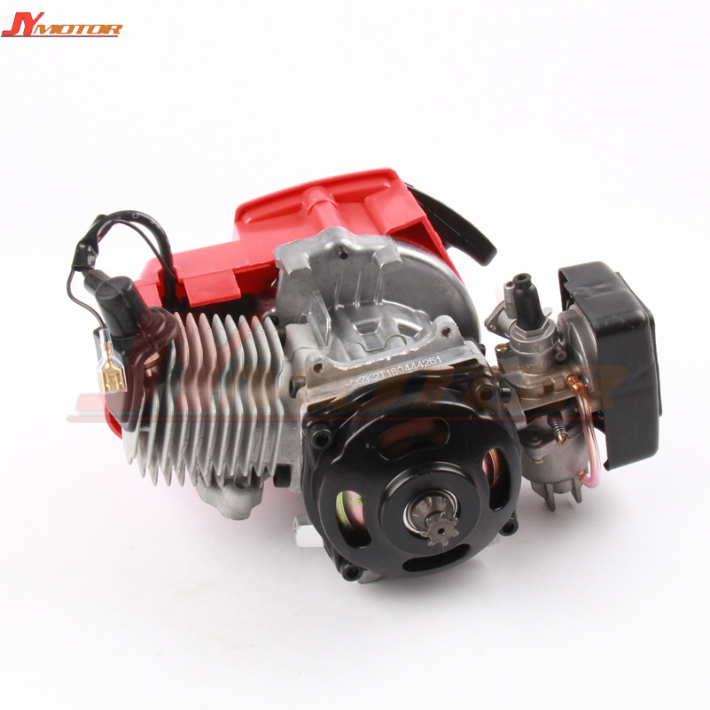49cc 2 Stroke Pull Start Engine For Mini Go Kart Dirt Bike Petrol Scooter ATV 49cc engine plastic pull start 15mm carburetor plastic mini moto pocket atv quad buggy dirt pit bike chopper gas scooter