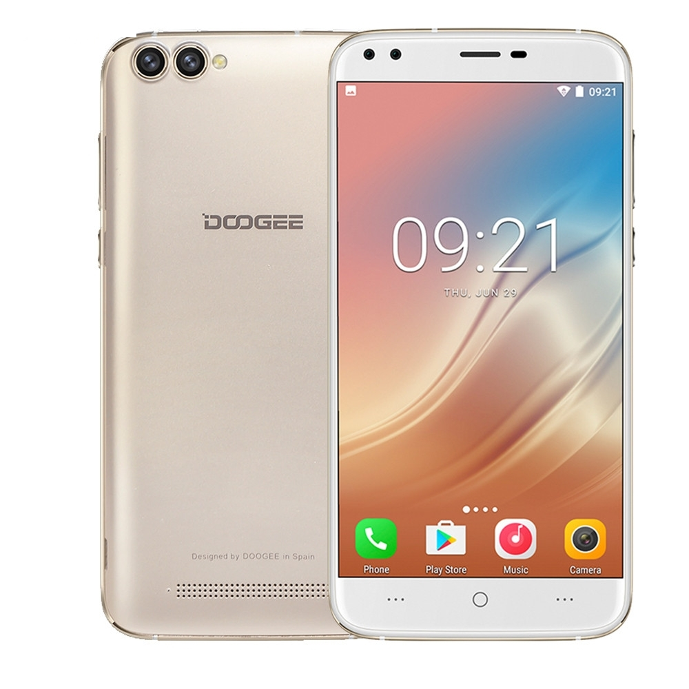 DOOGEE X30 Android 7.0 2G+16G 5.5 inch 3G Smartphone Quad Core Dual SIM 3360mAh Apr18 doogee x30 mocha gold