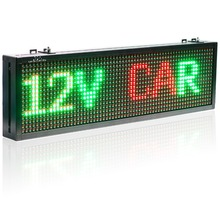 12v Car Bus Truck Bluetooth Remote Control Led Sign Red Green Yellow Tri – color Text Display board Moving Message Panel
