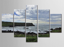 5 Piece Canvas Art Frameless Picture on Wall Waves Off the Coast Posters and Prints the Paintings Home Wall Decorative Pictures germans on the kenyan coast land charity and romance