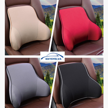 KKYSYELVA Memory Foam Lumbar Support Back massager Cotton Car seat cover waist Rest Pillow