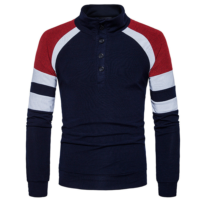 New Men Sweater Individuality Stand Collar Fashion Men Long Sleeves Men Autumn And Winter Thick Paragraph Knitwear S-2XL