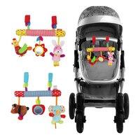 Baby Plush Animal Rattle Mobile Infant Stroller Bed Crib Spiral Hanging Toys Music Gift for Newborn