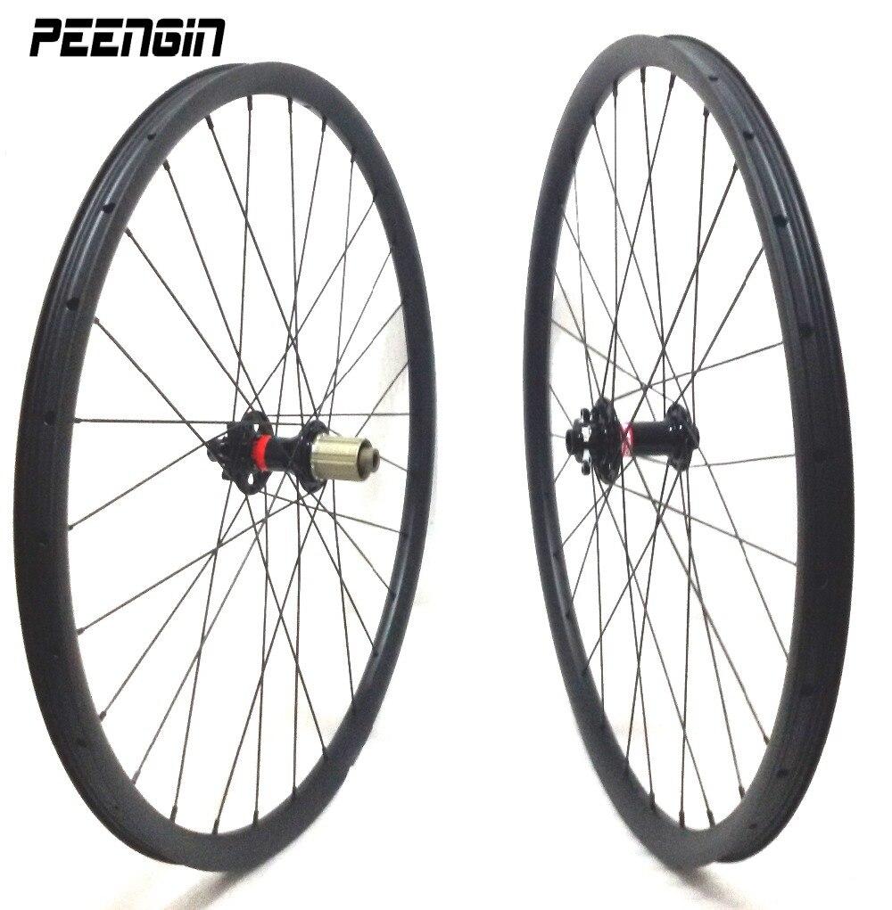 Колеса fixie втулка Novatec 27,5 дюймов углеродное колесо для горного велосипеда Наборы 35 мм ширина клинчер Hookless бескамерные совместимые для все го