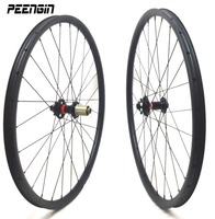 wheels fixie Novatec hub 27.5 inch Carbon MTB wheel sets 35mm Width Clincher Hookless Tubeless Compatible for All Mountain AM