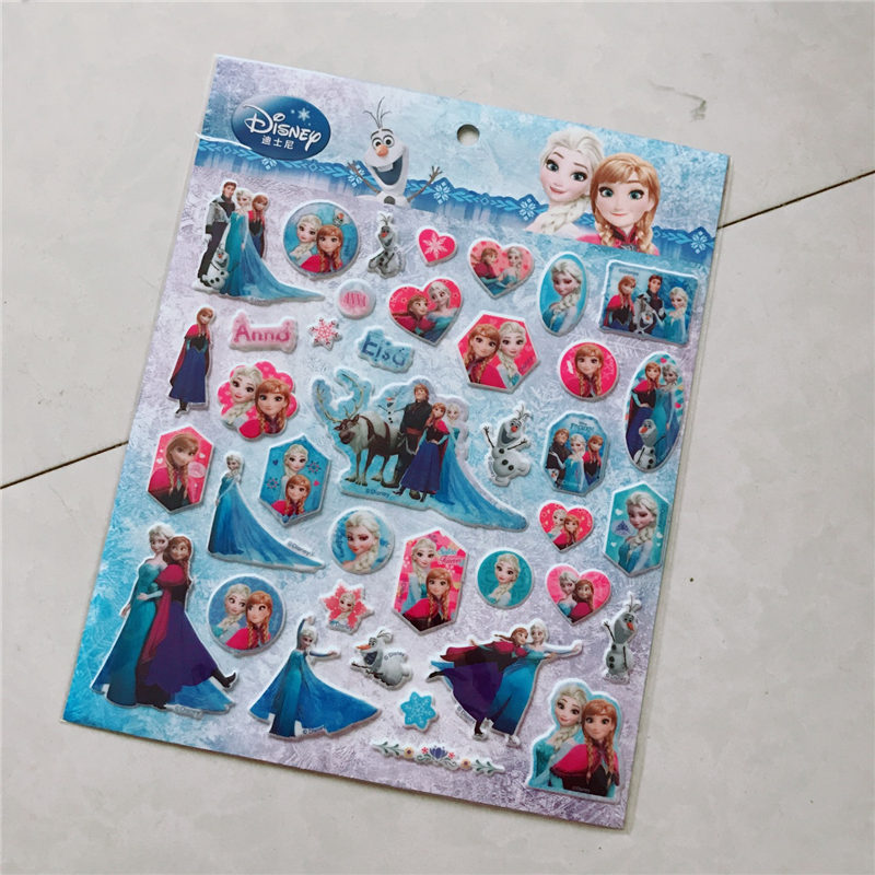 Disney Children's Cartoon Stickers Genuine Frozen Princess Bubble Stickers Paste Toys wormwood pepper ginger paste to banish cold pain shoulder neck leg health care stickers warm stickers chinese herbal stickers