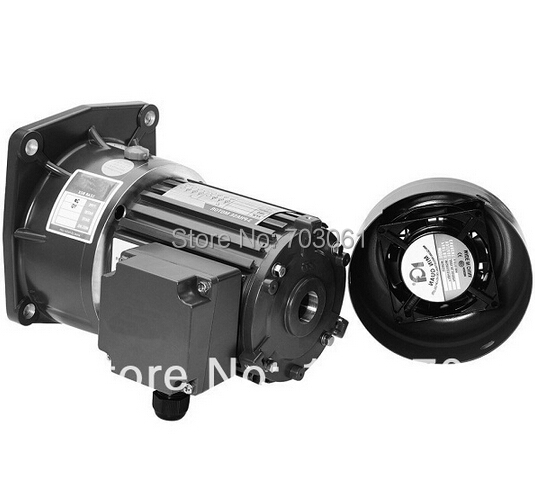 100Watts small AC gear motor 3Phase, 230Vac, 60hz output shaft 18mm with gearbox ratio 20 three phase induction motor 60w ac reversible motor 5rk60gu cf with gear ratio 90 1 output speed is 15 r m gear head 5rgu 90k