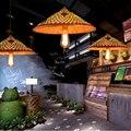 led e27 Chinese Handmade Wicker LED Lamp LED Light.Pendant Lights.Pendant Lamp.Pendant light For Dinning Room Foyer Restaurant