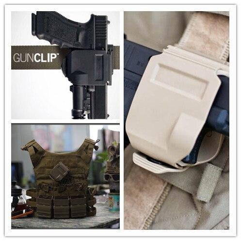 2018 nuevos modelos CP funda para GLOCK 17/22/23 táctico Airsoft Paintball caza tiro Roto mano derecha pistola Clip pistolera