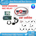 DHL ship 2016 released wow snooper v5.008 R2 free active with bluetooth tcs cdp pro with 8 full set cables for car cable