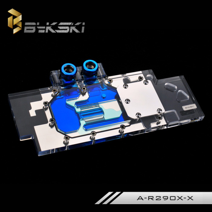Bykski A-R290X-X VGA GPU Water Cooling Block Full Cover Reference R9 290X le blog обувь на танкетке