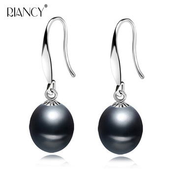 Fashion Pearl Earrings For Women wedding Jewelry Natural Water Drop Freshwater 925 Silver