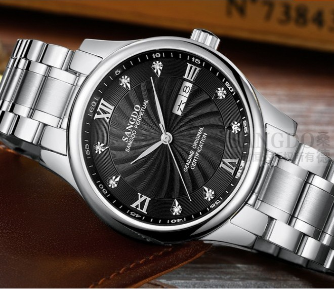 40mm Sangdo Luxury watches Automatic Self-Wind movement Sapphire Crystal High quality 2018 new fashion Men's watch 33S 40mm sangdo business watch automatic self wind movement sapphire crystal high quality 2016 new fashion men s watch 0002