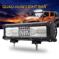 Car LED Work Light Bar For Tractor Boat OffRoad Truck SUV ATV Spot Flood Combo Beam