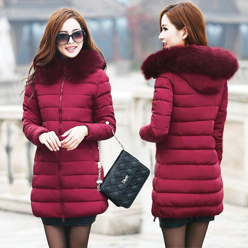 Bayan Kış Ceket Ve Mont 2019 Kalın Sıcak Aşağı Kapüşonlu - Bayan Giyimi - Fotoğraf 3
