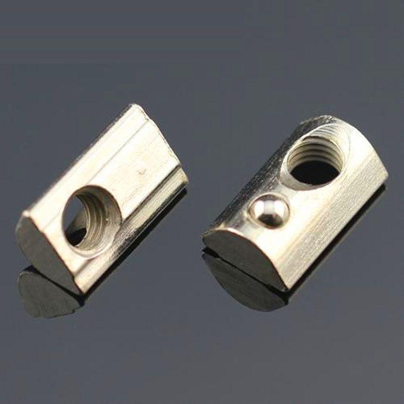 60pcs 3D Printer 2020 aluminum profiles Elastic Tee Nut Spring Loaded Tee Nuts