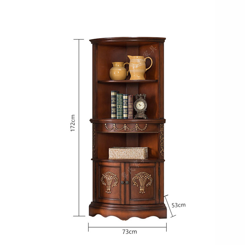 American Corner Cabinet Living Room Triangle Continental Old High In Cabinets From Furniture On